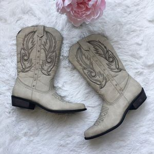 Coconuts Dolly Western Studded Cowgirl Boots